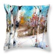 Birch Valley Throw Pillow