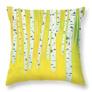 Birch Woods Throw Pillow