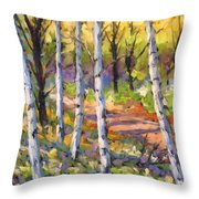 Birches 02 Throw Pillow