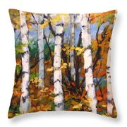 Birches 03 Throw Pillow