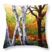 Birches 05 Throw Pillow