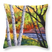 Birches 06 Throw Pillow