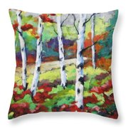 Birches 07 Throw Pillow