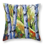 Birches 09 Throw Pillow