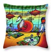 Bird Artists Throw Pillow