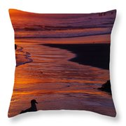 Bird At Sunset Throw Pillow