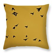 Bird Ballet Throw Pillow