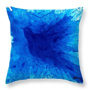 Bird Bath 2 Throw Pillow