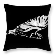 Bird Buzzard  Throw Pillow by Go Van Kampen