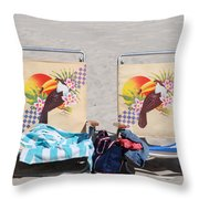 Bird Chairs Throw Pillow