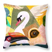 Bird Composition Throw Pillow