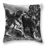 Bird Dogs, 1868 Throw Pillow