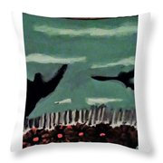 Bird Flock Throw Pillow