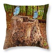 Bird Gossip Throw Pillow