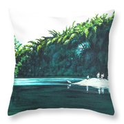 Bird Haven Throw Pillow