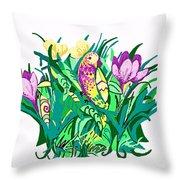 Bird In A Bush Throw Pillow