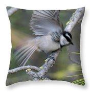 Bird In Action 2 Throw Pillow
