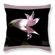 Lovely Lilies Bird In Flight Throw Pillow