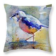 Bird In Lake Throw Pillow