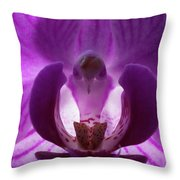 Bird In The Orchid Throw Pillow