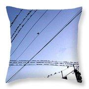 Bird Invasion Throw Pillow