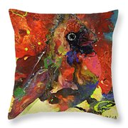 Bird Is The Word Throw Pillow