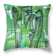 Bird Man Throw Pillow by Jera Sky