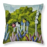 Bird Metropolis Throw Pillow