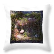 Bird Nest With Egg Throw Pillow