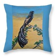 Bird Of Beauty, Ngiculela Throw Pillow