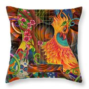 Bird Of Fire Guitar Throw Pillow