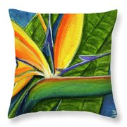 Bird Of Paradise #300b Throw Pillow