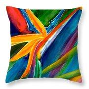 Bird Of Paradise Flower #66 Throw Pillow