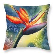Bird Of Paradise Flower Throw Pillow