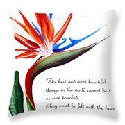 Bird Of Paradise Poem Throw Pillow