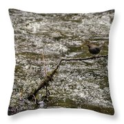 Bird On A River Throw Pillow