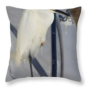 Bird On Boat Throw Pillow