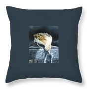 Bird Original Oil Painting Throw Pillow