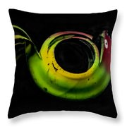 Bird Out Of An Old Car Tire Throw Pillow