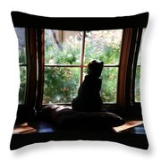 Bird Patrol I Throw Pillow