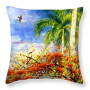 Bird Protected By Her Mother Throw Pillow