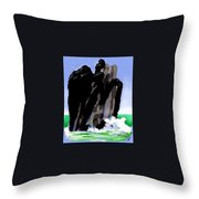 Bird Rock Off Marin Headlands Throw Pillow