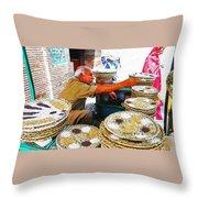 Bird Seed Seller Throw Pillow