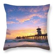 Bird Watching Sunset Throw Pillow