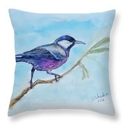 Bird. Watercolor Throw Pillow