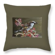 Bird White Eye Throw Pillow