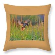 Bird With Prey Throw Pillow