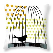 Birdcage Solo Throw Pillow