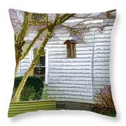 Birdhouse 6 Throw Pillow