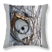Birdhouse Brambles Throw Pillow